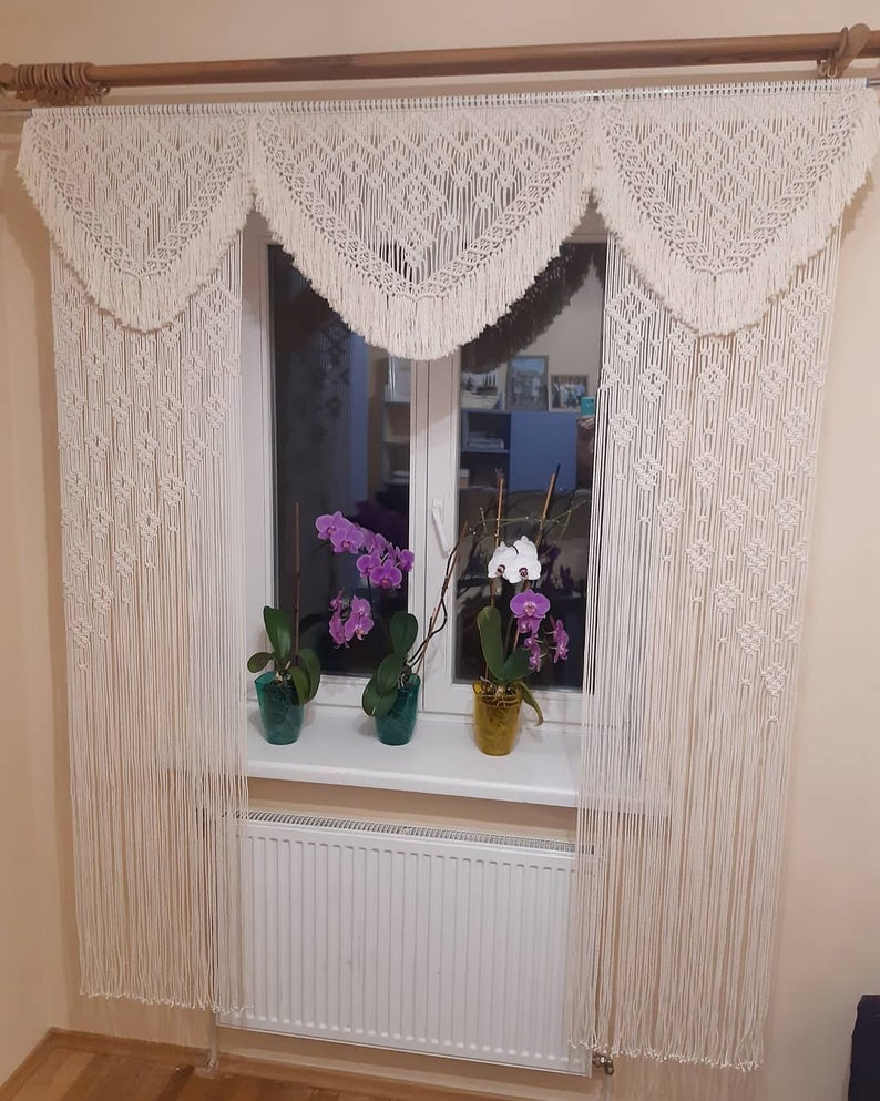 Handmade Art-Woven Wall Hanging-Macrame Wedding Backdrop - Macrame Curtains