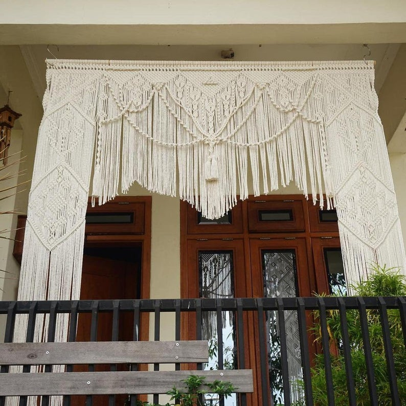 Bohemian Art Home Geometric Art Decor Beautiful Room Decoration -  Macrame Curtains