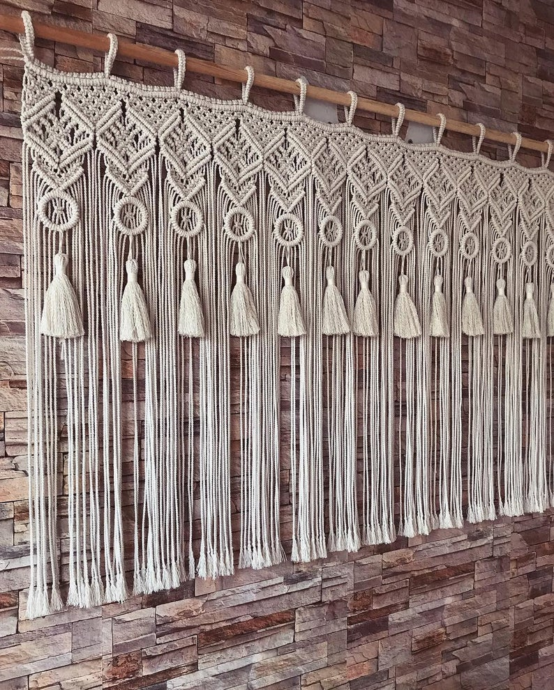 Boho Macrame Wall Hanging-Handmade Art-Woven Wall Hanging-Large Macrame Wall Hanging
