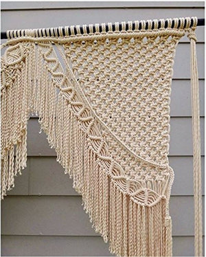 Boho Macrame Wall Hanging-Handmade Art-Woven Wall Hanging-Large Macrame Wall Hanging - Macrame Curtains