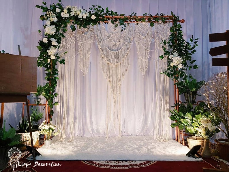 Woven Wall Hanging-Macrame Wedding Backdrop - Macrame Curtains