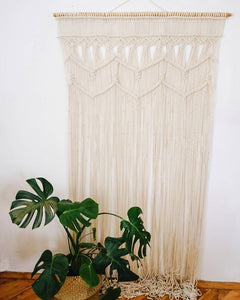 Boho Macrame Wall Hanging-Handmade Art-Woven Wall Hanging - Macrame Curtains