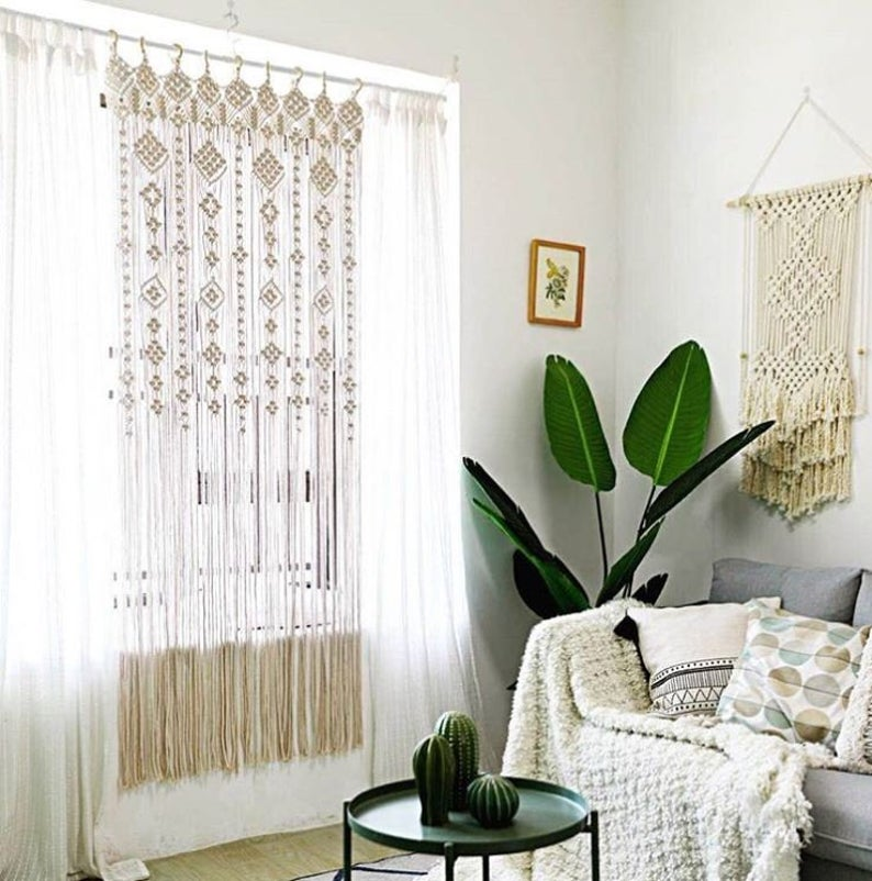 Premium Quality Macrame Fabric Panels Curtains Door Window Curtain