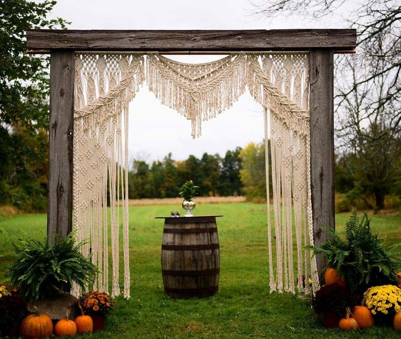 Boho Macrame Wedding Backdrop- Wall Hanging Macrame Curtains