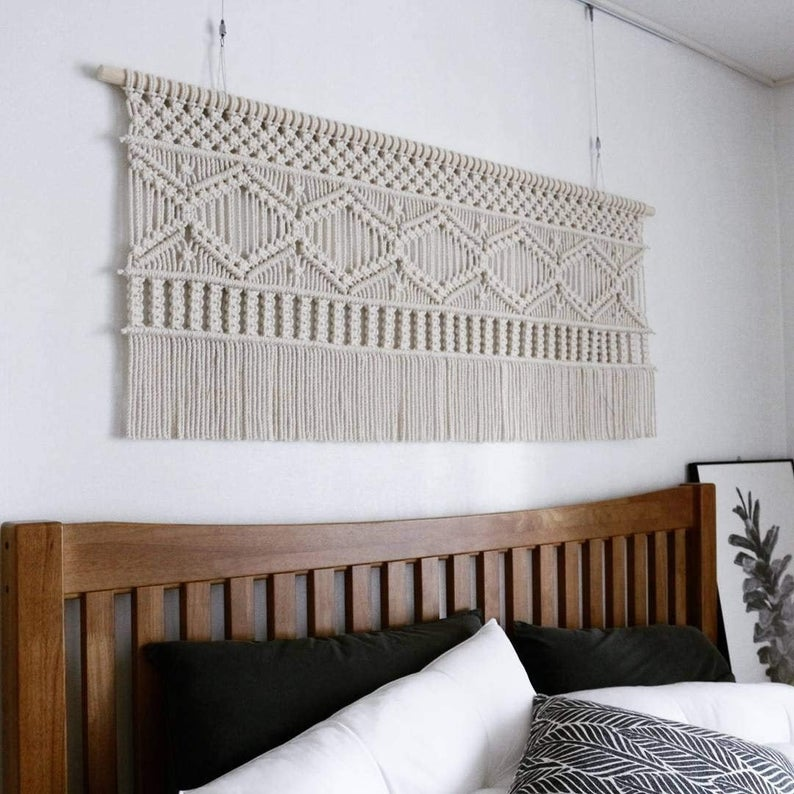 Boho Macrame Wall Hanging- Macrame headboard - Macrame Curtains