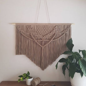 Handmade Art-Woven Wall Hanging-Macrame Curtain