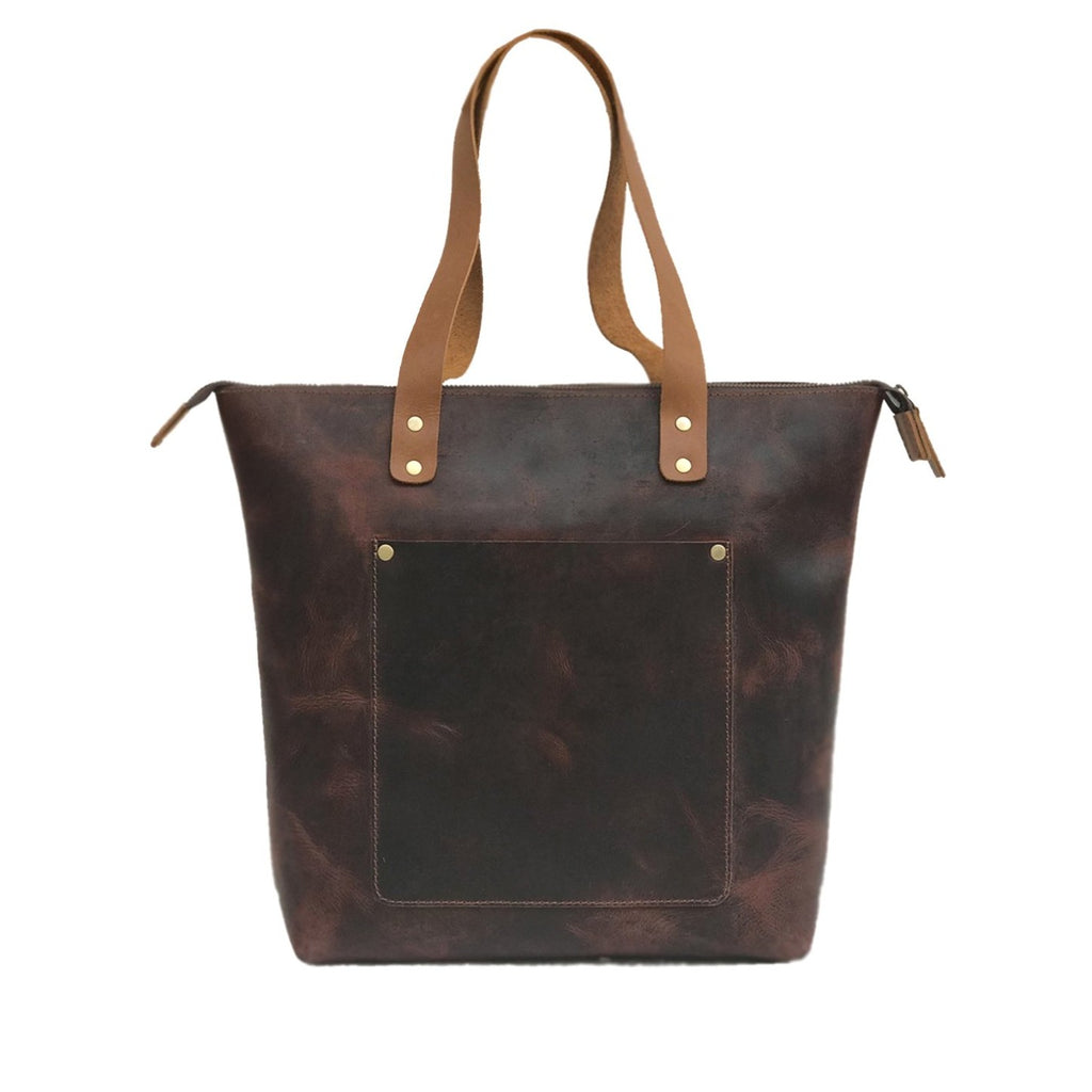 Genuine Leather Women Tote Bag