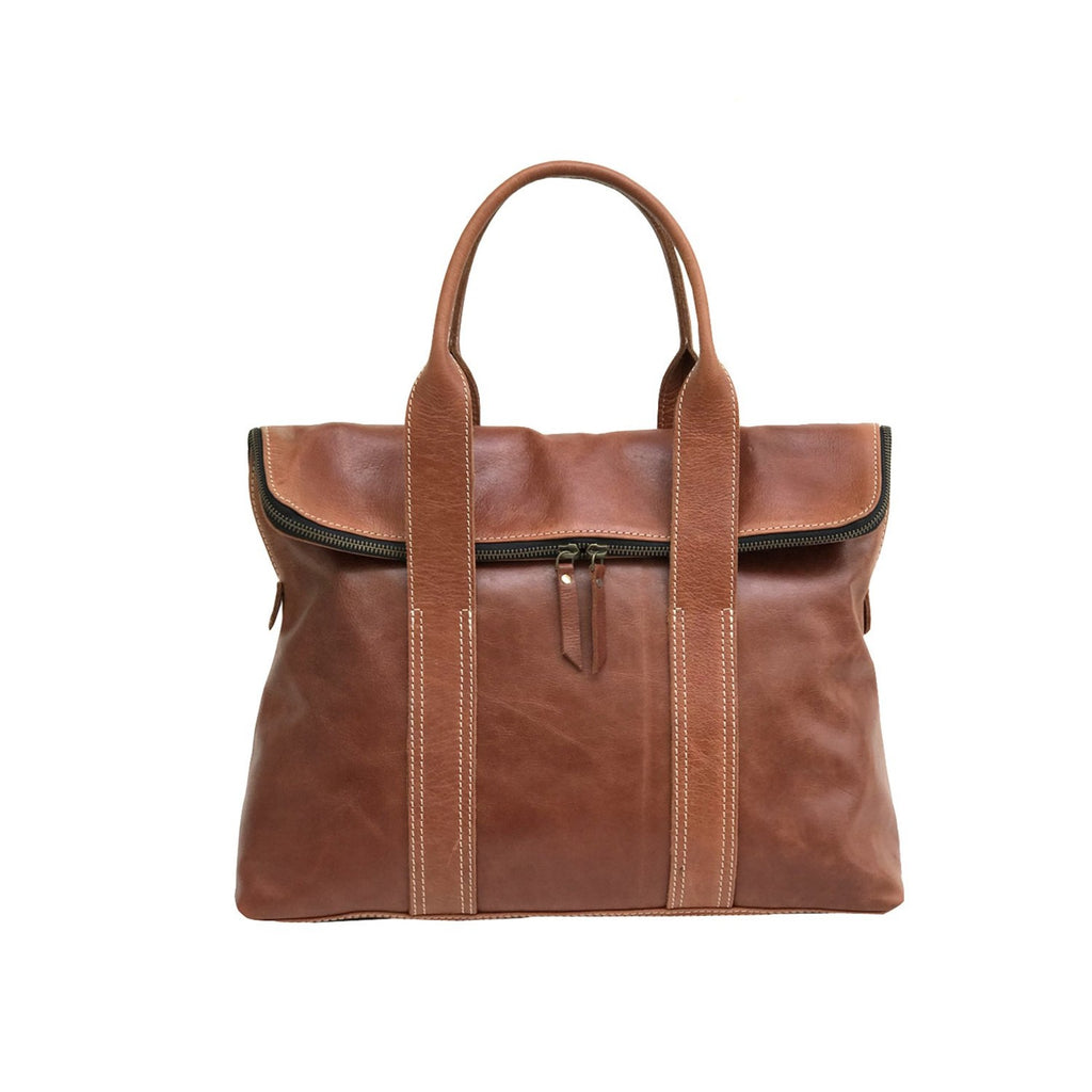 The Everyday Rustic Brown Leather Women's Tote Bag