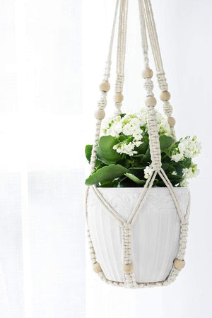 Macrame Plant Hangers Indoor Hanging Planter Basket, Cotton Rope No Tassels
