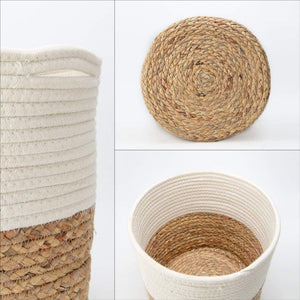 Cotton Rope Plant Basket with Water Hyacinth Modern Indoor Planter