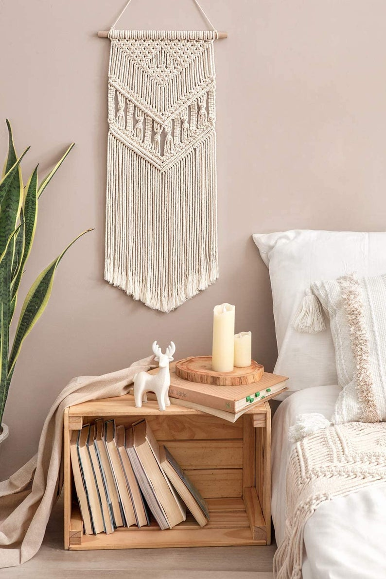 Macrame Wall Hanging Handmade Bohemian Chic Woven Tapestry Home Art Decor