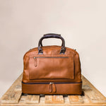 Fathers day Gift Personalized Large Leather Weekender Holdall Bag - BohoEntice