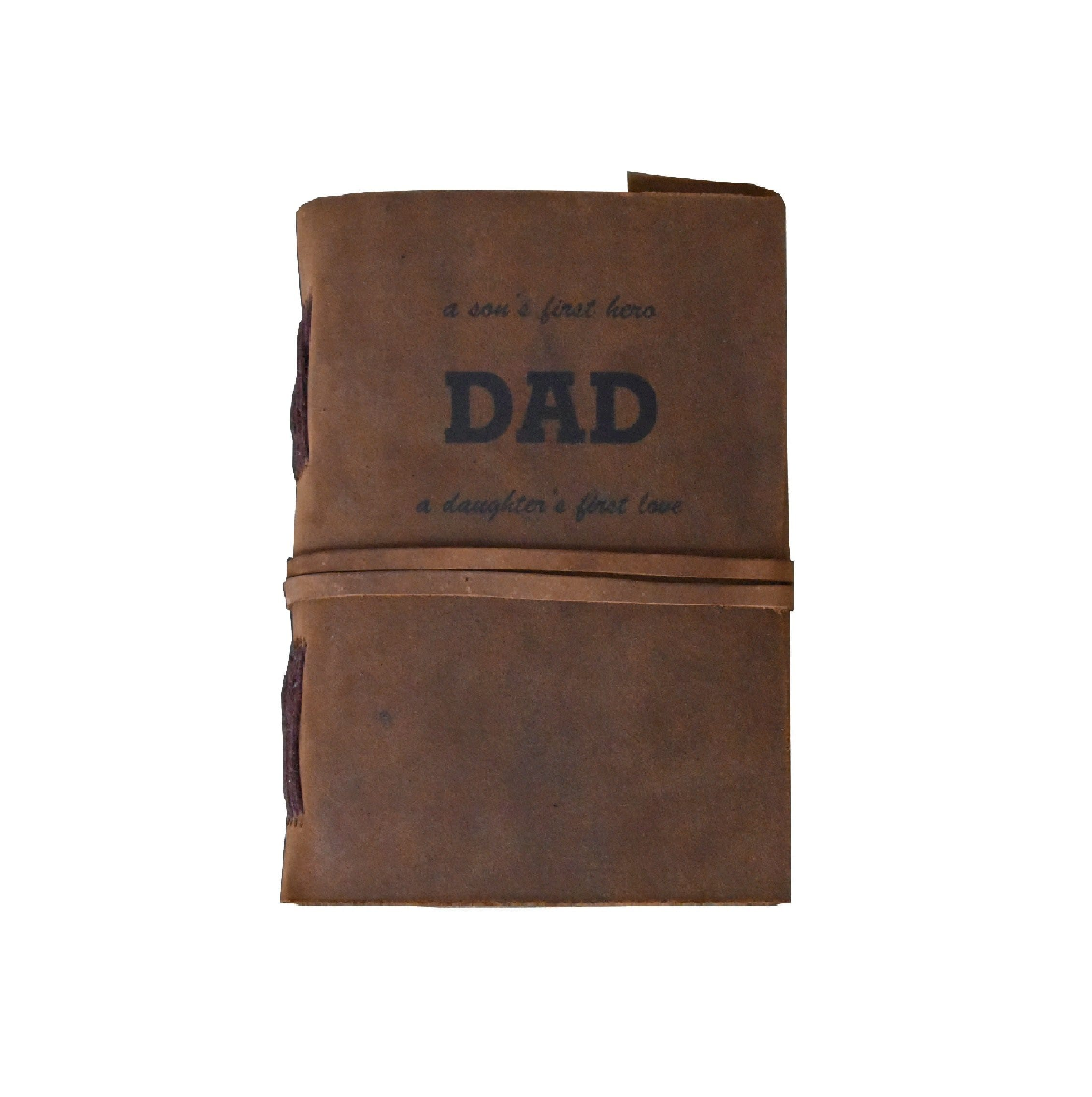 A Son's Firtst Hero DAD Personalise Leather Journal - BohoEntice