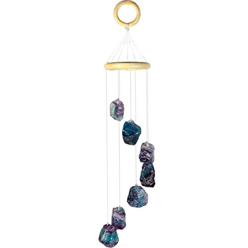 Amethyst Raw Stones Wind Chime Home Garden Decoration Figurine - BohoEntice