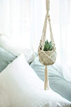 Macrame Plant Hangers 3 Different Sizes Hanging Planter for Indoor Outdoor Flower Pot Holder - BohoEntice