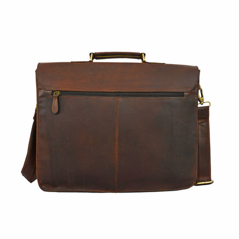 Bradley Leather Briefcase Bag - BohoEntice