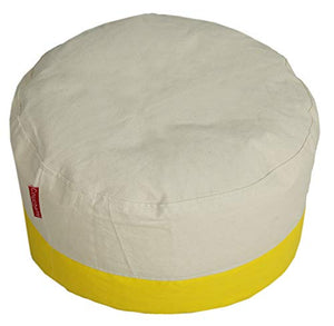 Ottoman Pouffe Organic Cotton Cover Without Beans - BohoEntice