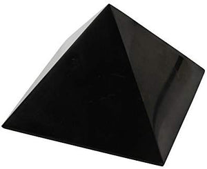 Shungite Pyramid 4 Inches, Contains Fullerenes for EMF Protection| Authentic Anti-Radiation Shungite Stone - BohoEntice