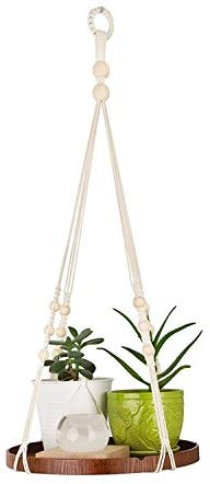 Macrame Plant Hanger - Indoor Hanging Planter Shelf - Decorative Flower Pot Holder - - BohoEntice