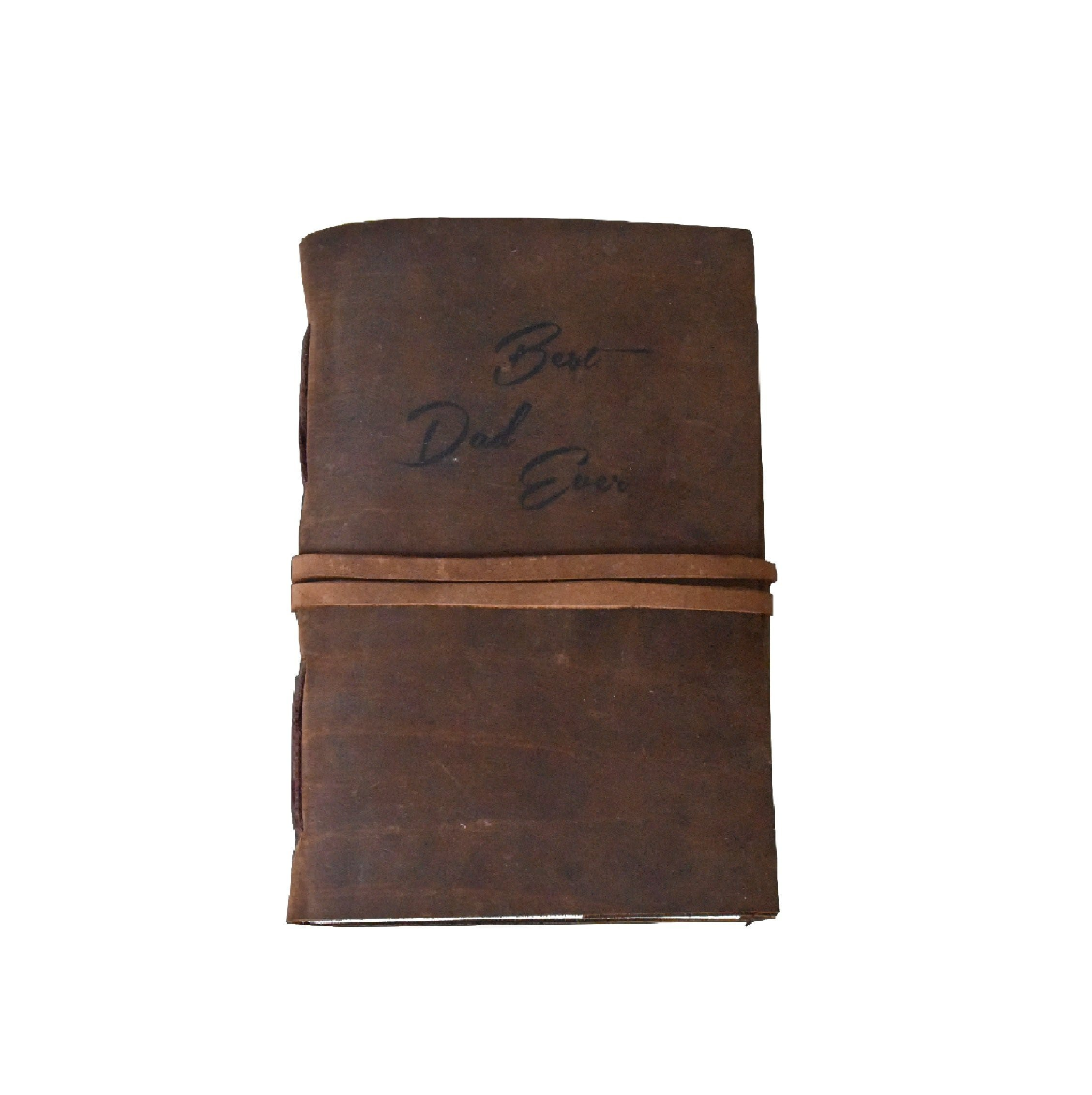 Best DAD Ever Personalise Leather Journal - BohoEntice