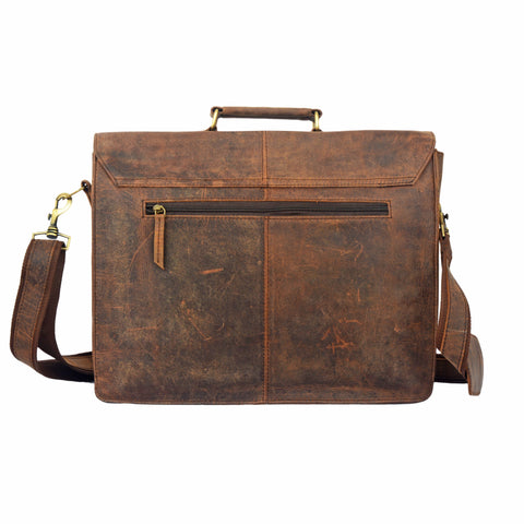 Charlee Leather Briefcase Laptop Messenger Bag - BohoEntice