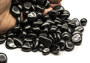 tumbled Shungite Stones - Polished Gemstone Supplies for Reiki - BohoEntice