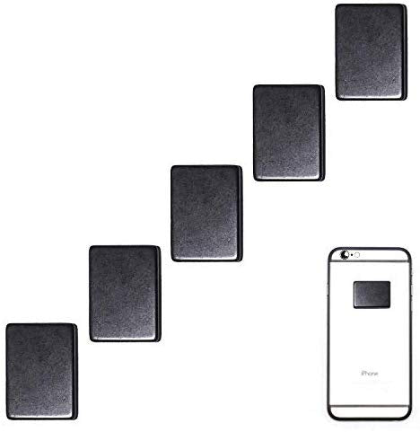 Set of 5 Polished Shungite Plate Sticker for Mobile Phone - Shungite Stickers for Cell Phone: - BohoEntice