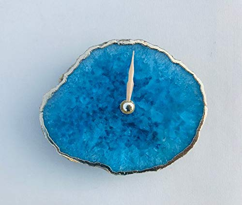 Agate Desk/Wall Clock (Small, Blue) - BohoEntice