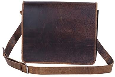 Hunter Leather 15 Inch Retro Leather Laptop Messenger Bag Full Flap Bag