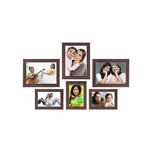 Collage Photo Frames (Set of 6, Wall Hanging), Black - BohoEntice