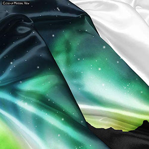 Northern Lights in The Sky Satin Tapestry Wall Hanging 40 X 30Inch - BohoEntice