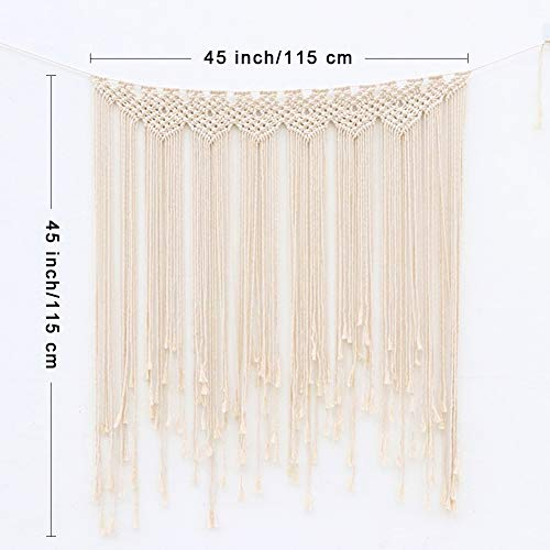 Macrame Wall Hanging Large Cotton Handmade Woven Wall Hanging - BohoEntice
