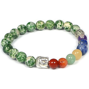 7 Chakra Bracelet 8 Mm Stone Beads For Reiki Crystal Healing - BohoEntice