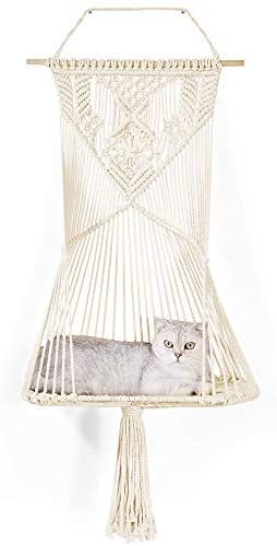 Macrame Cat Hammock Bed Decorative Macrame Wall Hanging