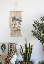 Macrame Magazine Storage Organizer Mount Cotton Wovening Hinging Boho Home Decor - BohoEntice