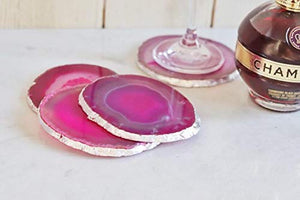 Gemstone Agate Beverage Coasters for Drinks Set - BohoEntice