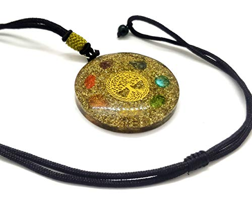 Seven Chakra Tree of Life Orgone Pendant, Healing Gift, , Chakra Crystal, EMF Protection , Birthstone - BohoEntice