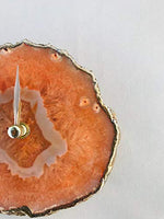 Orange Agate Desk/Wall Clock - BohoEntice