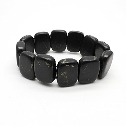 Authentic Shungite Crystal Bracelet with Tumbled - BohoEntice