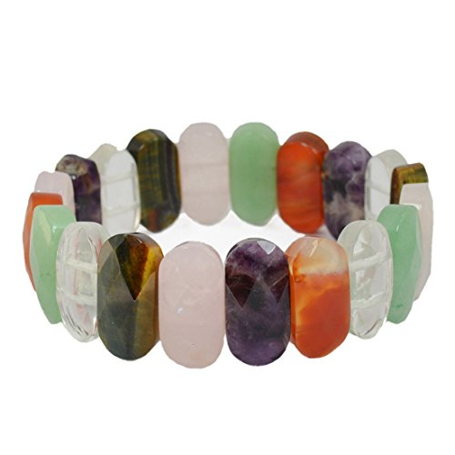 7 Chakra Natural Crystal/Stone Bracelet for Unisex and Healing at - BohoEntice