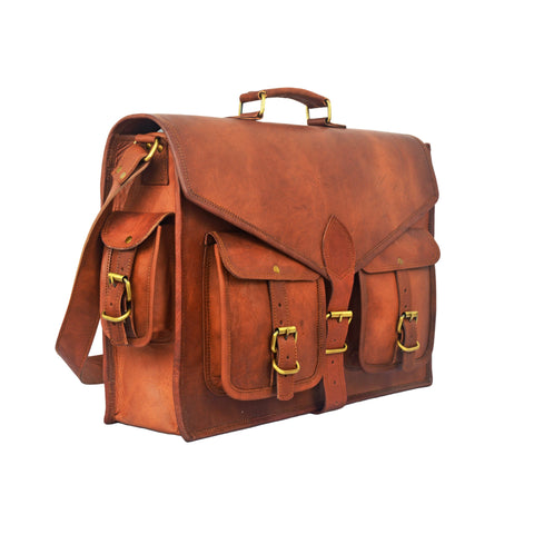 Tom Vintage Men's Leather messenger Satchel Bag - BohoEntice
