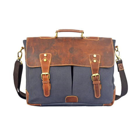 Jefferson Canvas Messenger Bag - BohoEntice