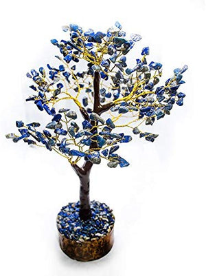 Seven Chakra Natural Healing Gemstone Crystal Bonsai Fortune Money Tree for Good Luck, Wealth & Prosperity-Home Office Decor Spiritual Gift (with Golden Wire and 300 Beads) Size 10-12 Inches: Home & Kitchen - BohoEntice