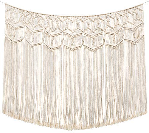 Macrame Wall Hanging Curtain Fringe Garland Banner Boho Wall Decor - BohoEntice