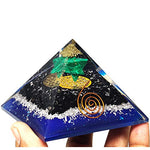 Black Tourmaline Orgone Pyramid for Positive Energy - Malachite Merkaba Star Healing Crystal - BohoEntice