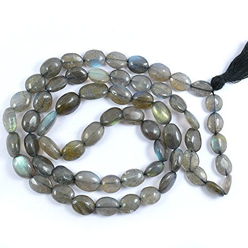 Blue Sodalite Oval Unisex Necklace Beads for Healing - BohoEntice