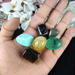 Wealth Crystal Tumble Stone Kit for Reiki Healing Gemstone Vastu - Feng Shui at - BohoEntice