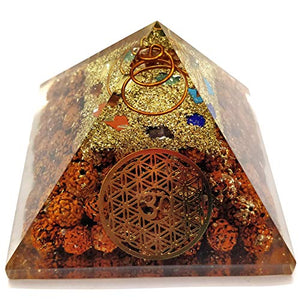 7 Chakra Orgone Energy Generator Pyramid for Vastu Correction Orgonite Pyramids - BohoEntice