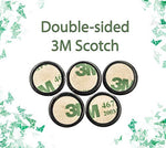 Shungite Stickers for Cell Phone for Protection EMF and WiFi 5G Devices 3M Scotch Super Sticky Set 5 Pieces - BohoEntice