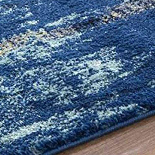 Polyester Yarn 3D Printed Vintage Persian Carpet with Anti Slip Backing for Bedroom/Living Area/Home (4X 5 ft, Multicolour) - BohoEntice